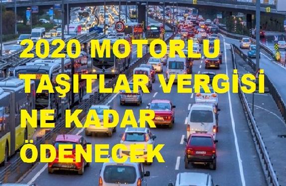 2020 Yılı Motorlu Taşıtlar Verginiz Ne Kadar
