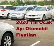 2020 Yılı Ocak Ayı Otomobil Fiyatları
