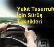 Yakıt Tasarrufu İçin Sürüş Teknikleri